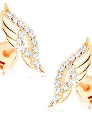 Zlaté náušnice pre ženy