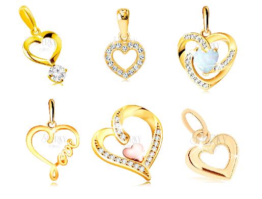 Zlatý prívesok srdce - výber z e-shopu